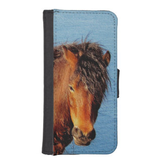 South Devon Coast Dartmoor Pony Looking .1 iPhone SE/5/5s Wallet Case