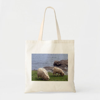 South Devon Coast Longwool Sheep With Lamb Grazing Tote Bag