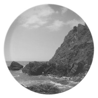 South Devon Coast Prawle Point B & W Plate