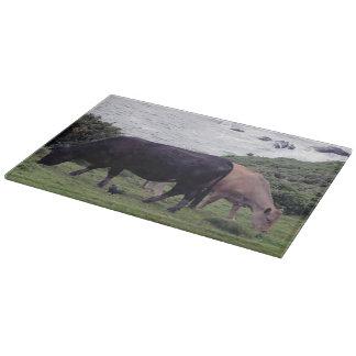 South Devon Coast Two Cows And A Jackdaw Cutting Board