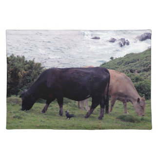 South Devon Coast Two Cows And A Jackdaw Placemat