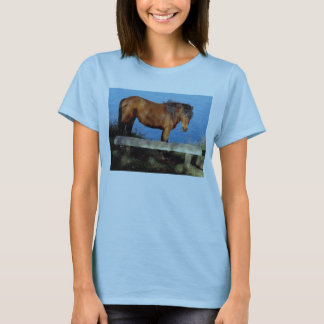 South Devon Dartmoor Pony On Remote Coast Path T-Shirt