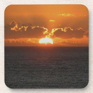 South Devon Gara Rock Autunm Sunset .3. Coaster