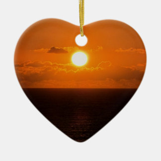 South Devon Gara Rock Autunm Sunset Christmas Ornament