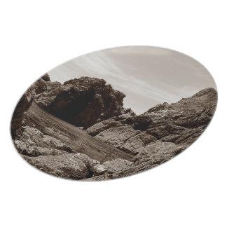 South Devon Gara Rock To Gara Rock .Sepia. Plate