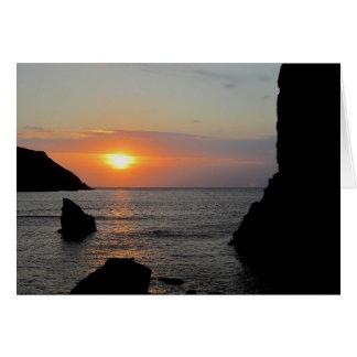 South Devon Hope Cove Autunm Sunset Card