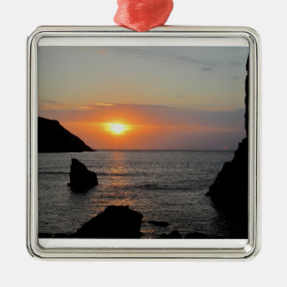 South Devon Hope Cove autunm sunset Christmas Ornament