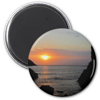 South Devon Hope Cove Autunm Sunset Magnet