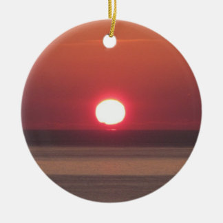 South Devon Noss Mayo coast winter sunshine Christmas Ornament