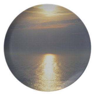 South Devon Stoke Autunm Sunset Plate