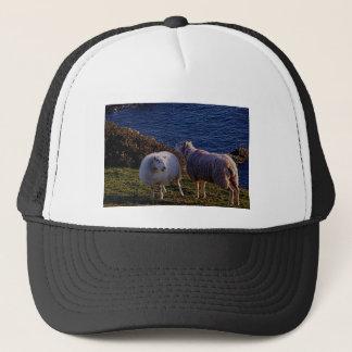 South Devon Two Sheep On Remote Coastline Trucker Hat