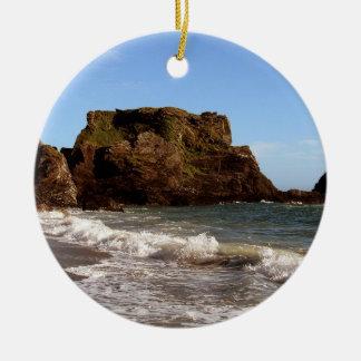 South Devon Westcomb Beach Christmas Ornament