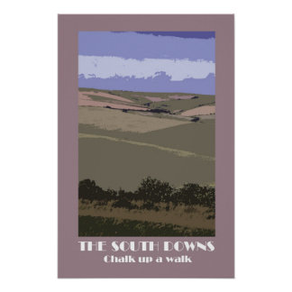 South Downs 1920s-style retro poster