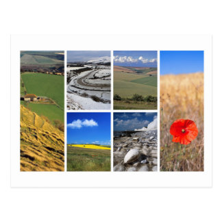 South Downs multi-image Postcard