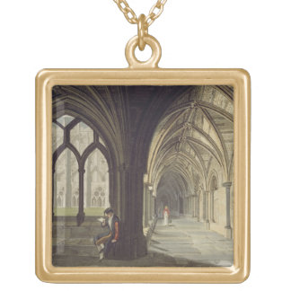 South East Angle of the Cloisters, plate T from 'W Gold Plated Necklace