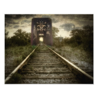South East Texas Railway Bridge Photograph