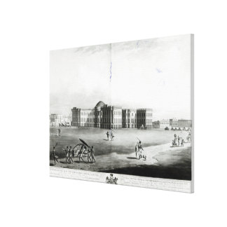 South East View of the New Government House Canvas Print