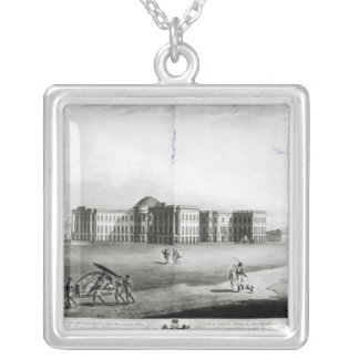 South East View of the New Government House Silver Plated Necklace