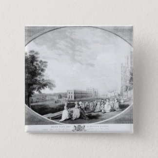 South East view of Windsor Castle 15 Cm Square Badge
