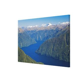 South Fiord, Lake Te Anau, Fiordland National Canvas Print