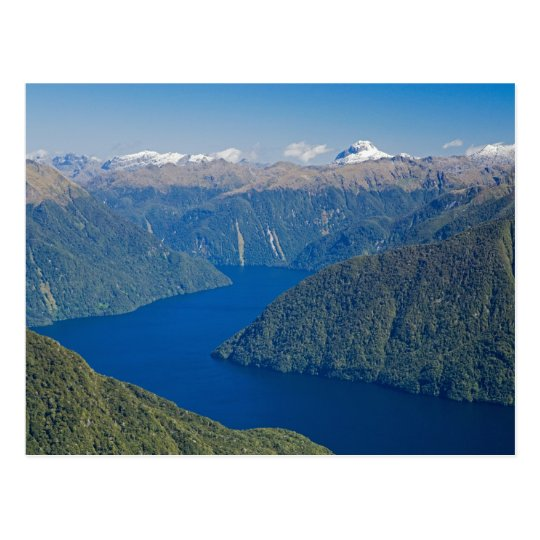 South Fiord, Lake Te Anau, Fiordland National Postcard