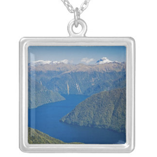 South Fiord, Lake Te Anau, Fiordland National Silver Plated Necklace