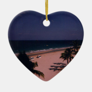 SOUTH FLORIDA 2 CERAMIC HEART DECORATION