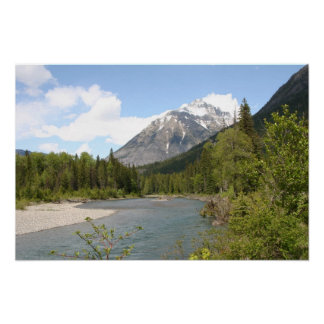 South Fork River, Glacier National Park Poster