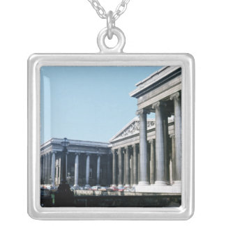 South front of the British Museum Silver Plated Necklace