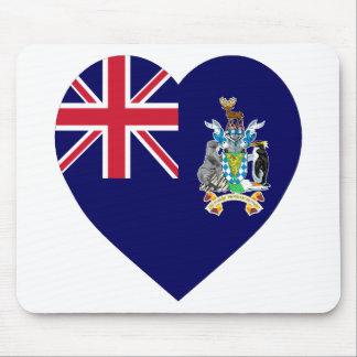 South Georgia Flag Heart Mouse Mat