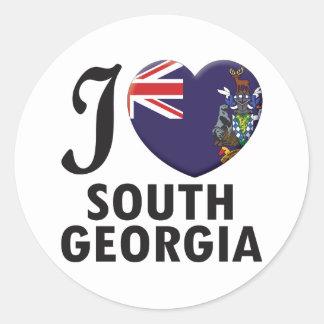 South Georgia Love Round Stickers