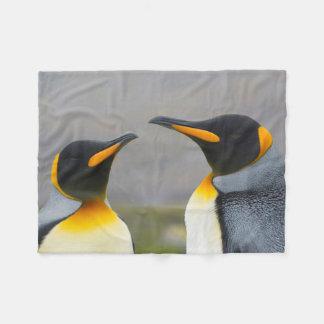 South Georgia. Saint Andrews. King penguin 3 Fleece Blanket