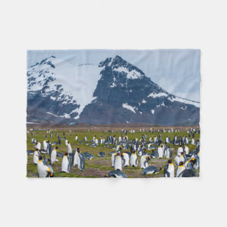 South Georgia. Salisbury Plain. King penguins 1 Fleece Blanket