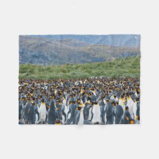 South Georgia. Salisbury Plain. King penguins 3 Fleece Blanket