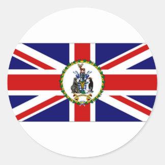 South Georgia South Sandwich Islands Flag alt2 Classic Round Sticker