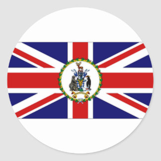 South Georgia South Sandwich Islands Flag alt2 Round Sticker