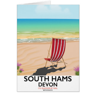 South Hams Devon beach poster Card