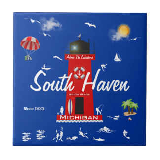 South Haven - Adore The Lakeshore Small Square Tile