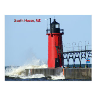 South Haven Lighthouse Postcard