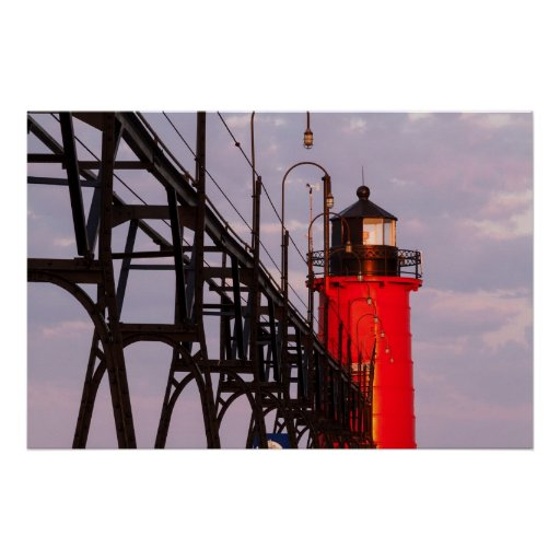 South Haven, Michigan Lighthouse & Catwalk Print