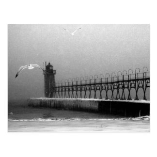 South Haven Michigan Lighthouse Postcard