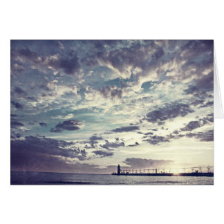 South Haven Michigan Pier Beach Life Greeting Card