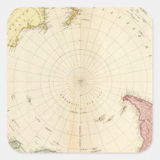 South Hemisphere map Square Sticker