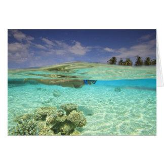 South Huvadhoo Atoll, Southern Maldives, Indian Card