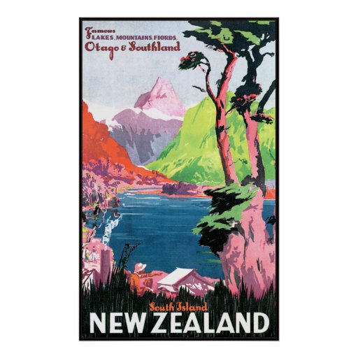 South Island New Zealand Poster
