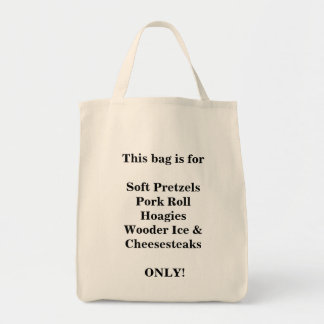South Jersey/Philly Necessities Grocery Tote Grocery Tote Bag