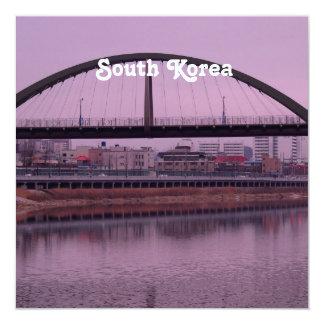 South Korea 13 Cm X 13 Cm Square Invitation Card