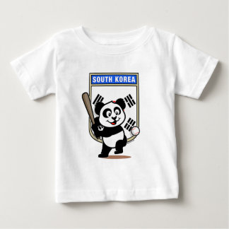 South Korea Baseball Panda Baby T-Shirt