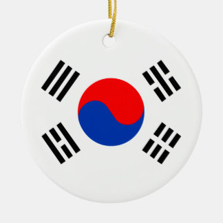 South Korea Christmas Ornament