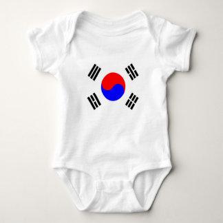 south korea country flag nation symbol baby bodysuit